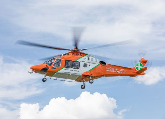 Magpas Air Ambulance in flight