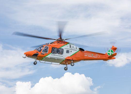 Magpas Air Ambulance in flight