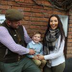 George with mum Natasha and dad Will