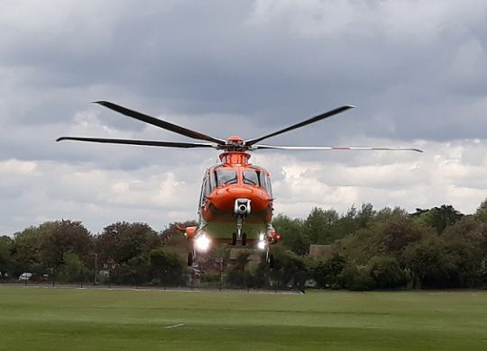 The Magpas Air Ambulance taking off