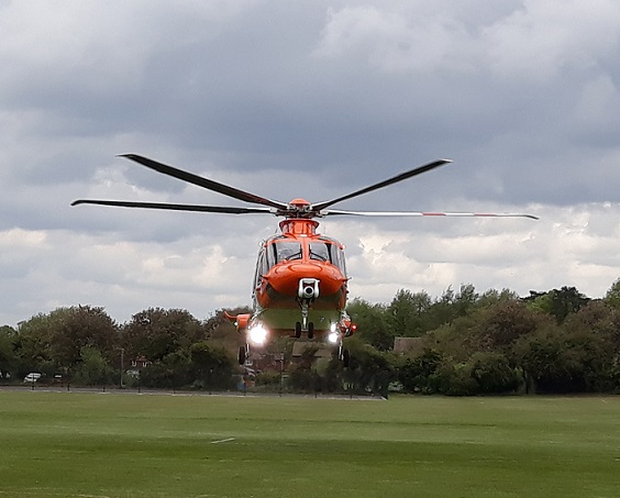 The Magpas Air Ambulance taking off