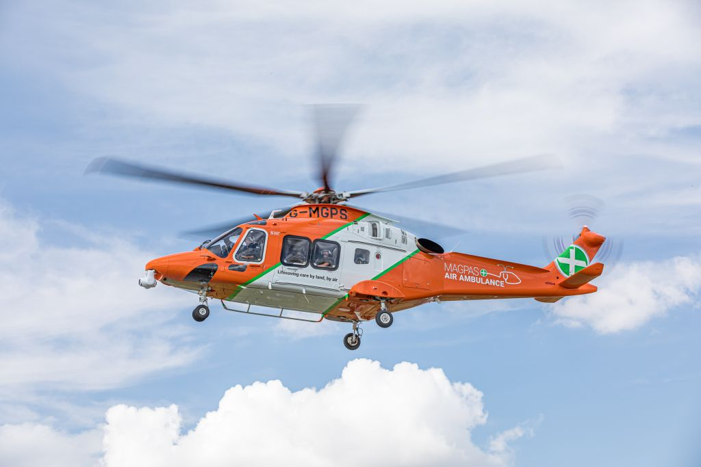 Picture of Magpas Air Ambulance in flight