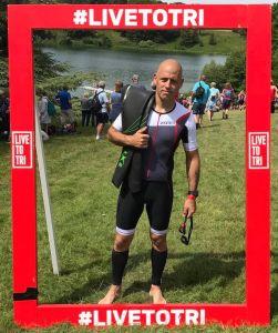 Wayne Marshall - at a triathlon
