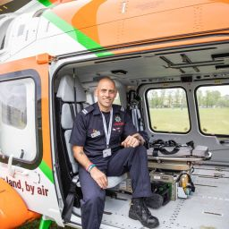 Wayne Marshall in the new Magpas Air Ambulance