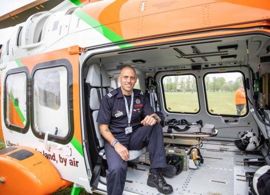 Wayne Marshall in the new Magpas Air Ambulance