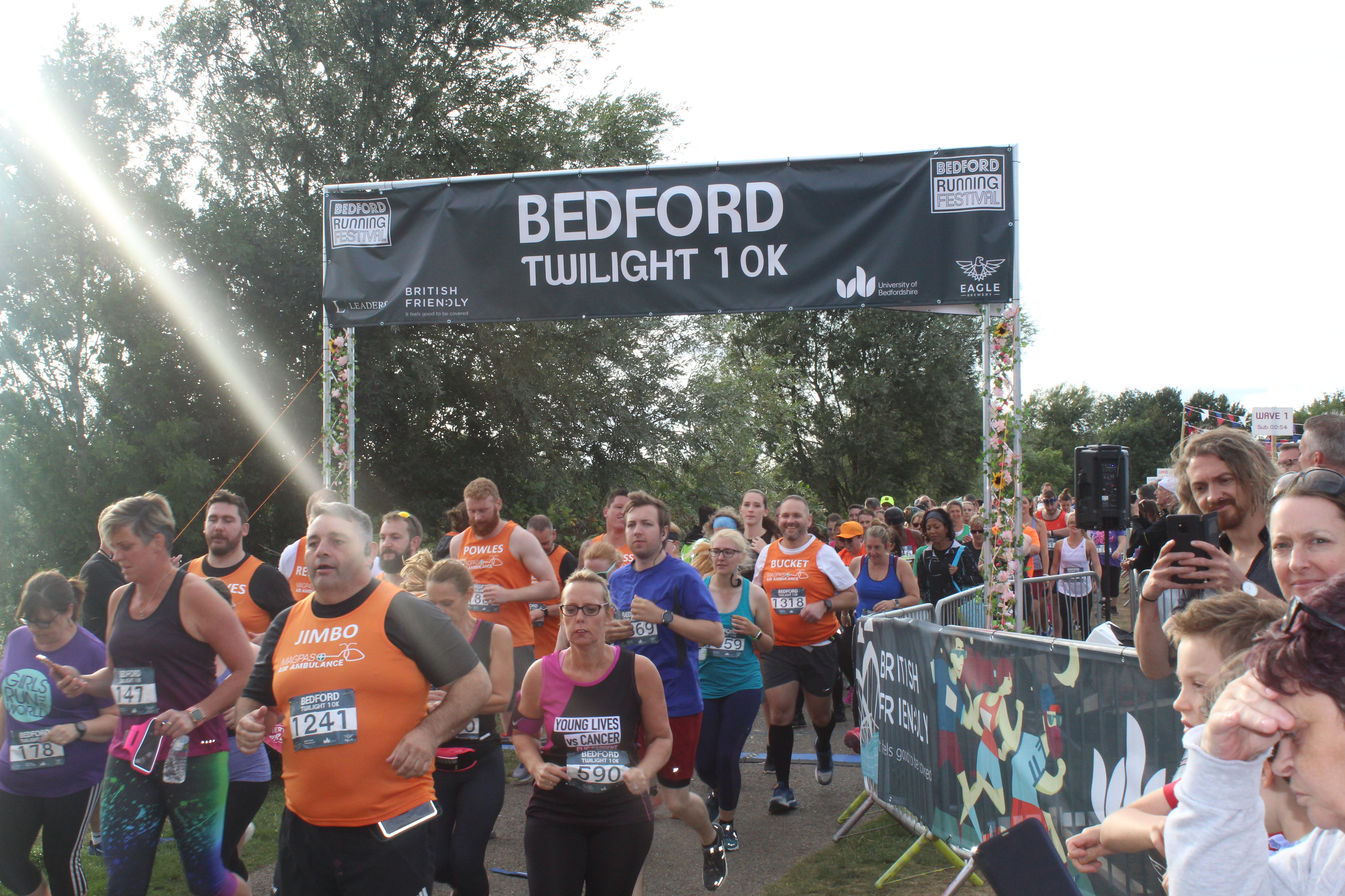 Magpas runners in the Bedford Twilight 10k