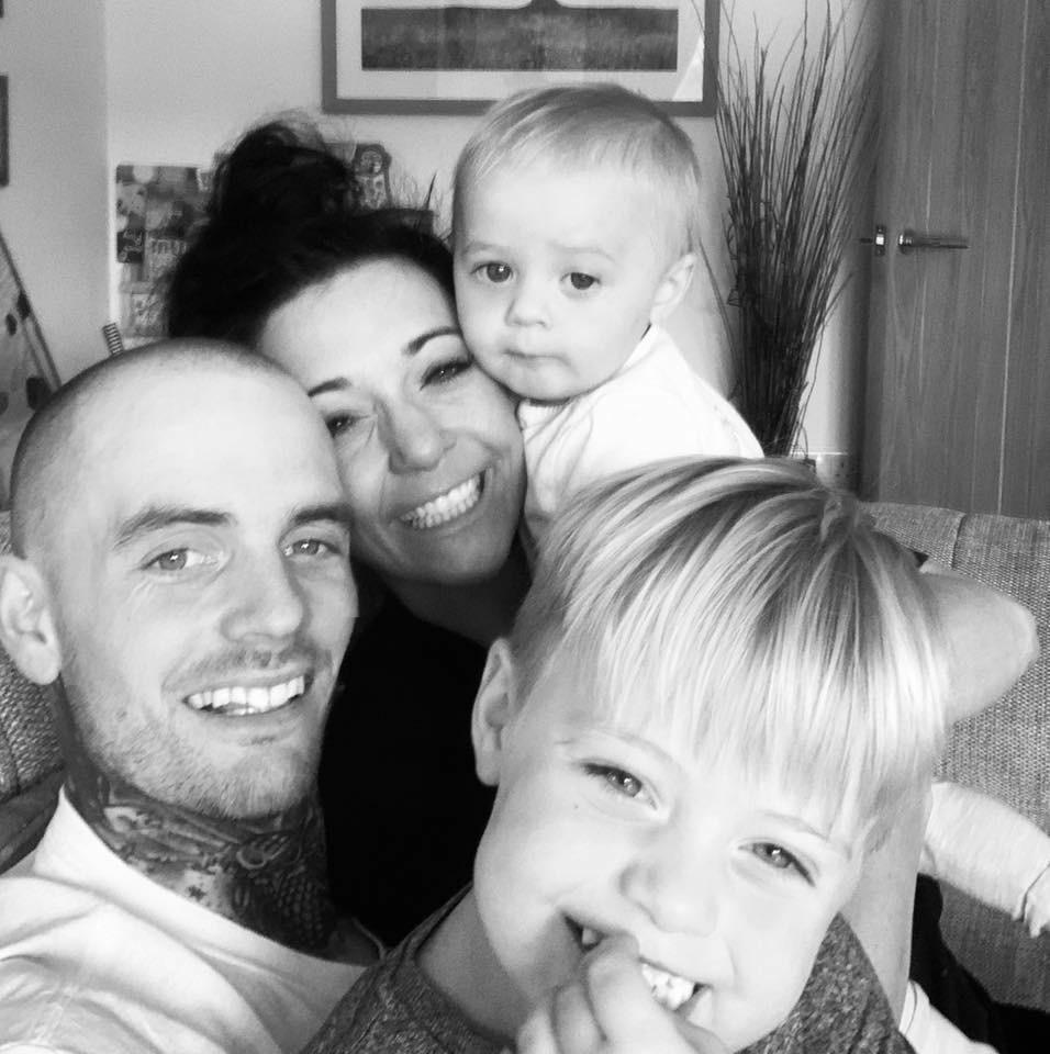 Lewis & Jessie (as they are today) with their children Cooper and Elodie