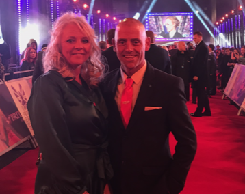 Wayne and his wife Kay on the red carpet