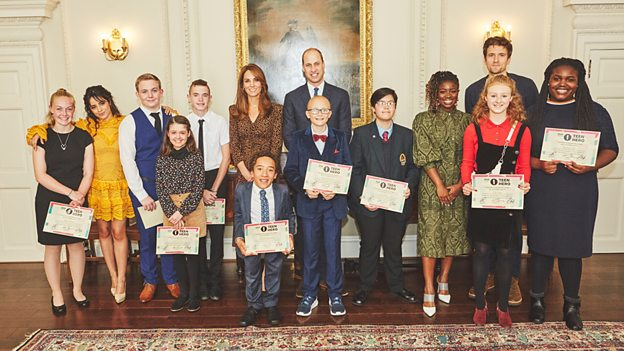 Image of Radio 1 Teen Awards finalists at Kensington Palace