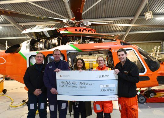 SGB 1630 - Magpas Air Ambulance Cheque Presentation