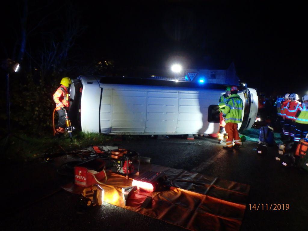 Serious incident minibus vs car collision 1